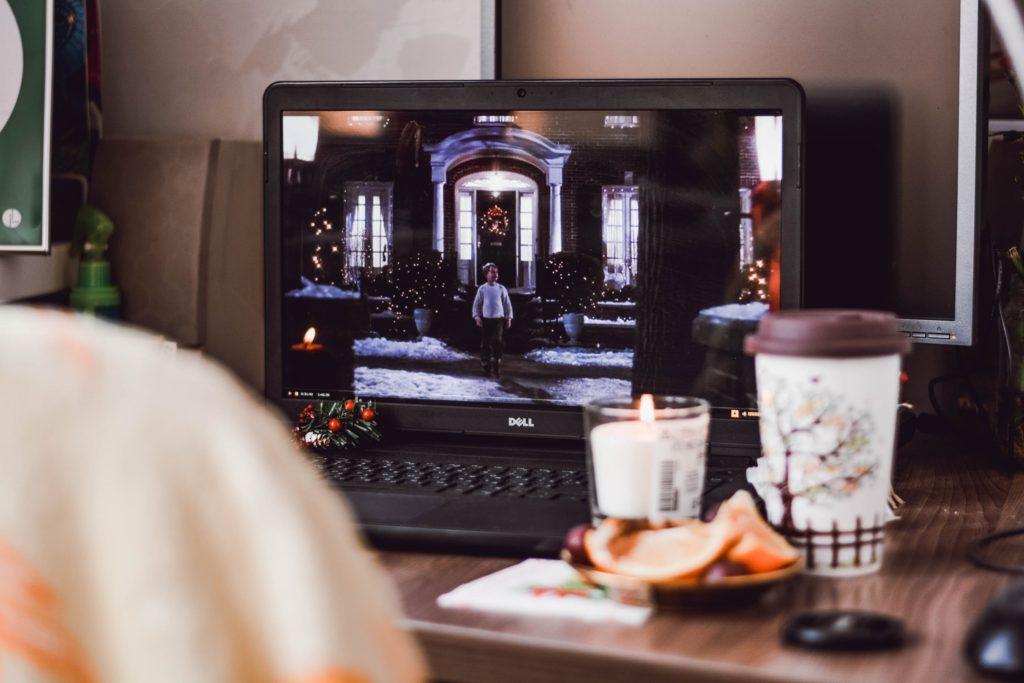 película en casa