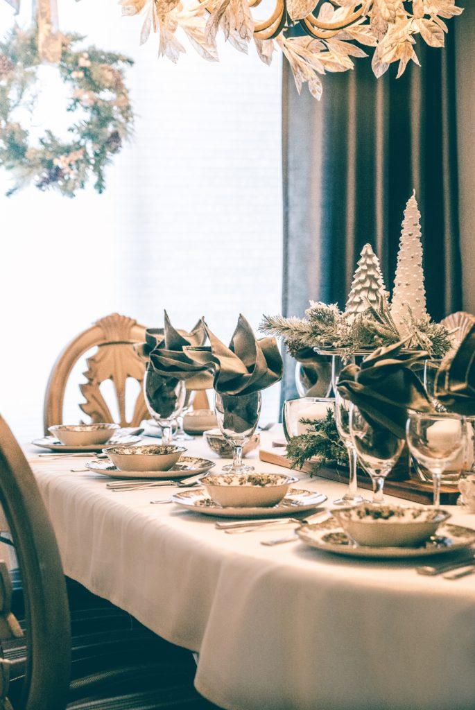 mesa de cena navidad